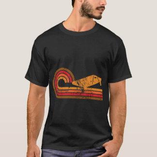 Camiseta Silhueta retro Cornhole do conselho de Cornhole do