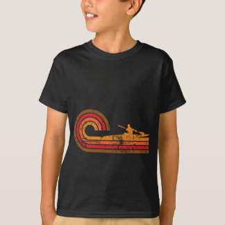 Camiseta Silhueta retro do Kayaker do estilo que Kayaking