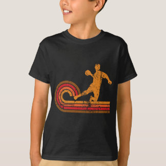 Camiseta Silhueta retro Dodgeball do jogador de Dodgeball