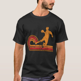 Camiseta Silhueta retro Dodgeball do jogador de Dodgeball