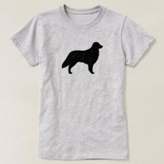 Camiseta Silhueta revestida lisa do Retriever