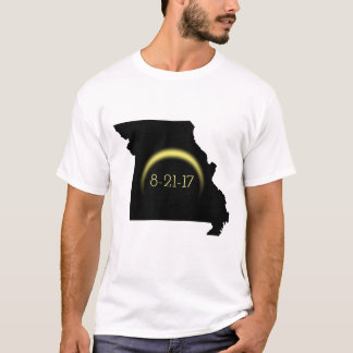 Camiseta Silhueta total 2017 de Missouri do eclipse solar