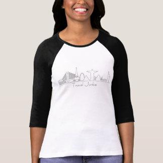 Camiseta Silhuetas do monumento, toxicómano do viagem,
