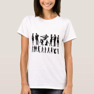 Camiseta Silhuetas dos homens e das mulheres de negócio