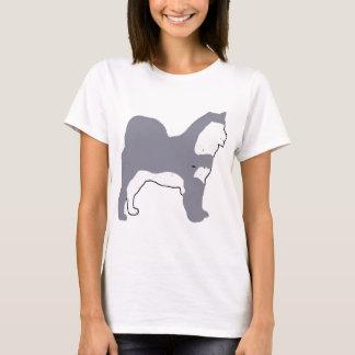 Camiseta Silo azul e branco do Malamute do Alasca