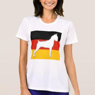 Camiseta silo do pugilista no branco da bandeira