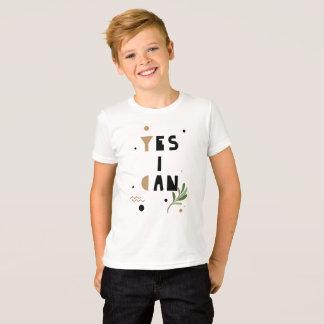 Camiseta Sim eu posso t-shirt crescer as atitudes positivas