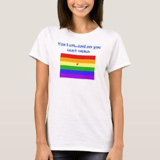 Camiseta Sim eu sou… e nenhum você não pode olhar