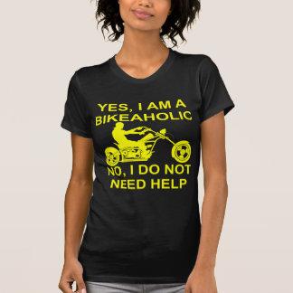 Camiseta Sim eu sou um Bikeaholic nenhum mim não faço
