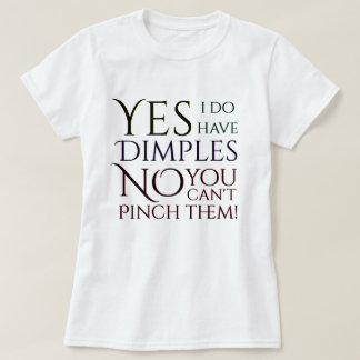 Camiseta Sim eu tenho as ondulações nenhumas você não posso