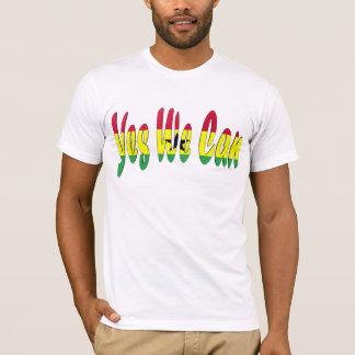 Camiseta Sim nós podemos (a bandeira de Ghana)