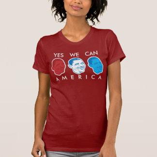 """Camiseta """"Sim nós podemos t-shirt de América"""" Obama"""