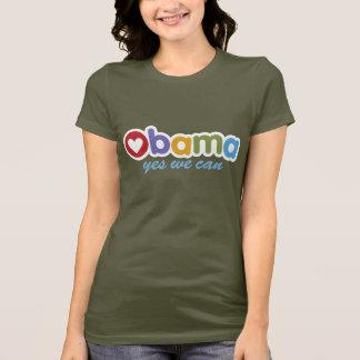 Camiseta Sim nós podemos t-shirt de Obama
