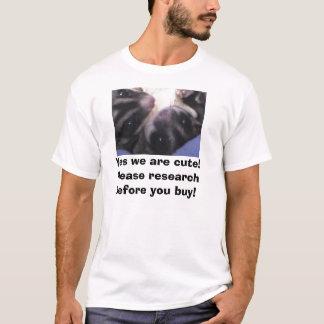 Camiseta Sim nós somos bonitos! Pesquise por favor antes