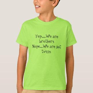 Camiseta Sim nós somos t-shirt dos irmãos