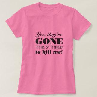 Camiseta Sim, são humor ido da mastectomia do cancro da