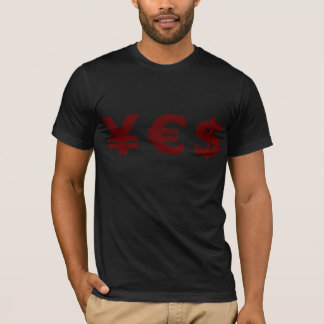 Camiseta sim tshirt da moeda