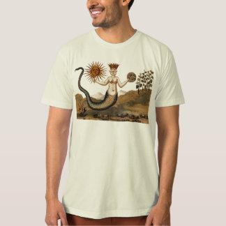 Camiseta simbólica da alquimia com Sun e lua