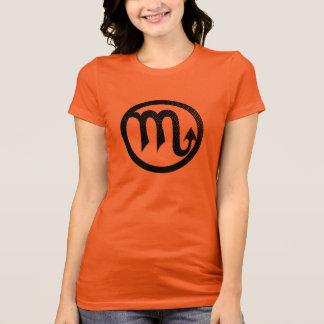 Camiseta Símbolo astrológico afligido da Escorpião