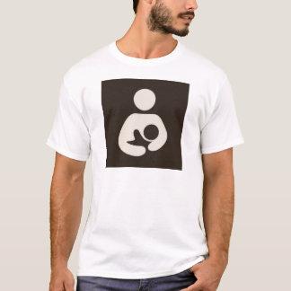 Camiseta Símbolo Brown da amamentação/cuidados