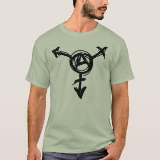 Camiseta símbolo da anarquia do transporte