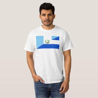 Camiseta símbolo da bandeira de guatemala El Salvador meio