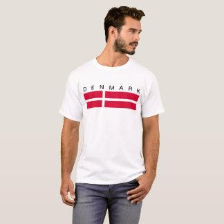 Camiseta Símbolo da bandeira de país de Dinamarca por muito