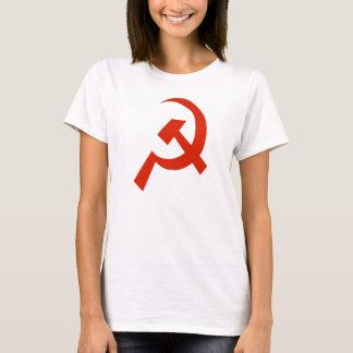 Camiseta Símbolo da foice do martelo de URSS