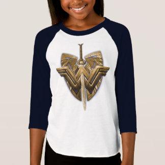 Camiseta Símbolo da mulher maravilha com a espada de