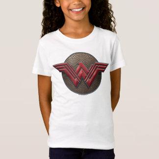 Camiseta Símbolo da mulher maravilha sobre círculos