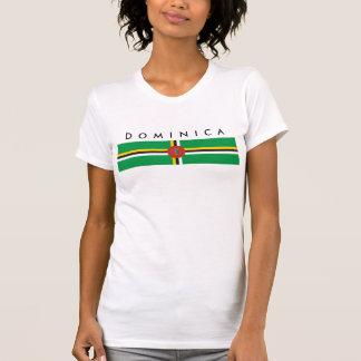 Camiseta símbolo da nação da bandeira de país de dominica