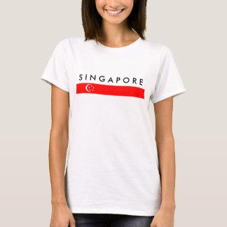 Camiseta símbolo da nação da bandeira de país de singapore