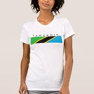 Camiseta Símbolo da nação da bandeira de país de Tanzânia