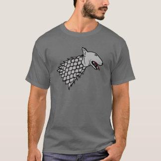 Camiseta Símbolo de bull terrier no chicote de fios