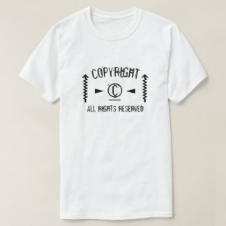 Camiseta Símbolo de Copyright todos os direitos reservados