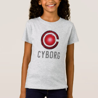 Camiseta Símbolo de incandescência do Cyborg da liga de