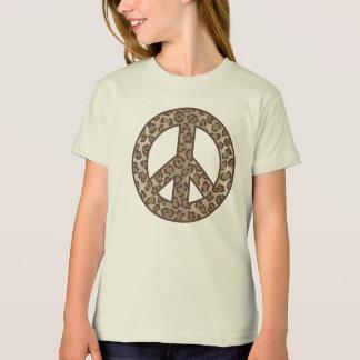 Camiseta Símbolo de paz do leopardo
