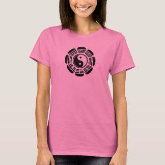 Camiseta Símbolo de Yin Tang da flor