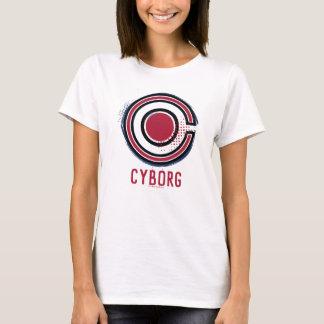 Camiseta Símbolo do Cyborg da escova & da reticulação da