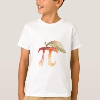 Camiseta Símbolo do dia do Pi, torta de Apple. Humor da