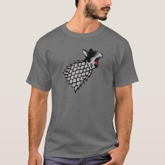 Camiseta Símbolo do gato de bocejo no chicote de fios