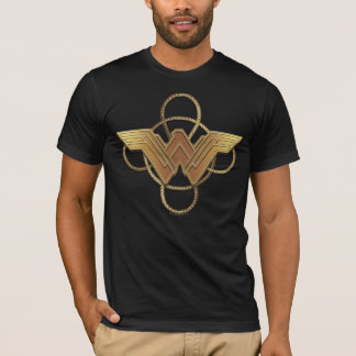 Camiseta Símbolo do ouro da mulher maravilha sobre o laço