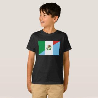 Camiseta símbolo do país da bandeira de México guatemala