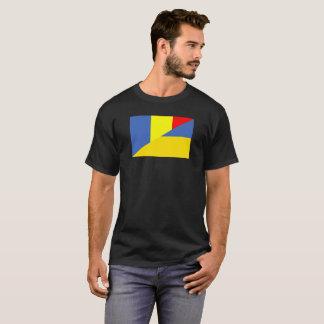 Camiseta símbolo do país da bandeira de romania Ucrânia