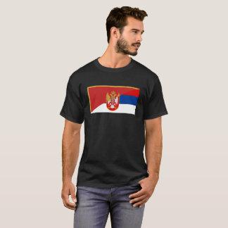 Camiseta símbolo do país da bandeira de serbia Montenegro