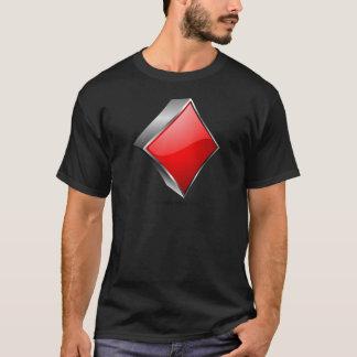 Camiseta símbolo do póquer 3D com sombra