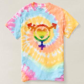 Camiseta Símbolo do transporte do Transgender com olhar