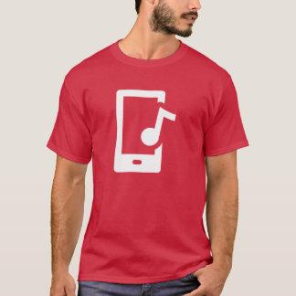 Camiseta Símbolo dos meios de dispositivo