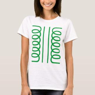 Camiseta Símbolo elétrico do transformador