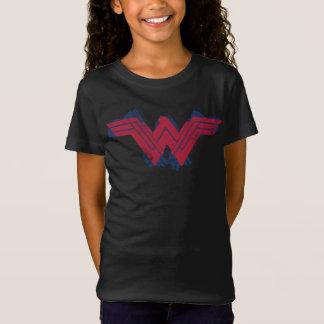 Camiseta Símbolo escovado | da mulher maravilha da liga de